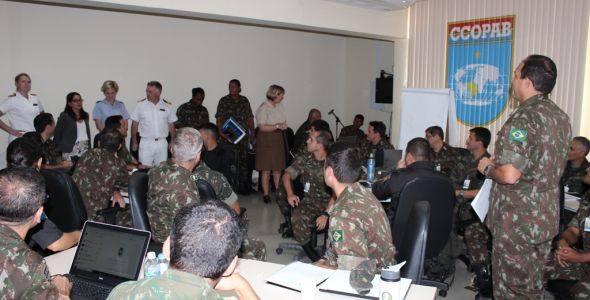 CCOPAB receives a visit from the UK Ministry of Defence delegation